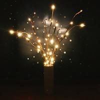 Ano novo LED Willow Ramo Lâmpada Luzes Florais 20 Lâmpadas de Casamento Em Casa Festa de Natal Decoração de Jardim Presentes de Presente de Aniversário de Natal