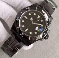 Fabrika Tedarikçisi En kaliteli Lüks Safir Bamford Seramik Siyah Çerçeve Dial 16610 116610 otomatik erkek Saatler saatı