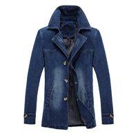 giacca jeans da uomo cappotto denim giacca slim fit giacca sportiva soprabito soprabito moda top plus size vestiti m-5xl nero blu