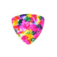 Celluloide 346 Triangolo arrotondato Plettri per chitarra 0.71mm 100Pcs Tie Dye