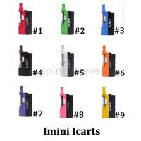 정통 Imini V1 V2 ICarts 스타터 키트 650 배터리 예열 박스 모드 리버티 두꺼운 오일 Vape 카트리지 기화기 원자로