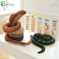 Babiqu 1pc 130cm Simulation Cobra und Python-Schlange Plüschtier Weiche Stuffed Stern Puppen lustiges Geschenk für Kinder Kinder-Party-Spielzeug