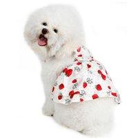 المطبوعة كلب الملابس الحلوة الأميرة فساتين تيدي جرو فستان الزفاف fot الصغيرة المتوسطة الكلاب الملحقات