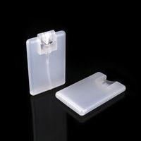 Mini frosted black white pocket empty perfume sprayer 20ml credit card spray plastic bottle custom your logo