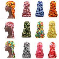 العلامة التجارية Durags مصمم Durag الرجال العمامة باندانا أغطية الرأس العصابة حك القراصنة قبعة رجل السائق قبعات القبعات اكسسوارات الشعر