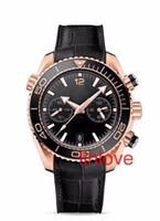 Nuovi arrivi di alta qualità degli uomini di lusso in acciaio inossidabile automatico meccanico nero oro orologi sportivi orologi da polso vendita calda