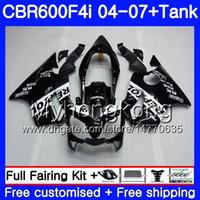 Body Repsol nero caldo Per HONDA CBR 600F4i CBR600 FS CBR600F4i 04 05 06 07 281HM.2 CBR 600 F4i CBR600 F4i 2004 2005 2006 Kit carenature 2007