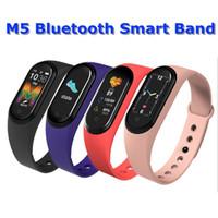 سوار M5 شاشة ملونة الذكية فرقة للياقة البدنية المقتفي ووتش الرياضة ضغط الدم معدل ضربات القلب Smartband مراقب الصحة الاسورة دي إتش إل الحرة