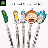 Dabber de metal Dabbers de dibujos animados Dabbers de pepino Dabber de aleación de zinc Herramienta para fumar para accesorios de fumar de prohibición de cuarzo para arco de vidrio