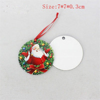 Christmas Ornaments Decorations Round Square Snow Shape Decorations Hot Transfer Printings Blank Xmas Consumable New Styles EEA243