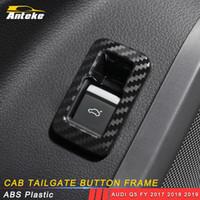 Accessoires voiture Siège conducteur coffre Interrupteur de porte ABS Couvercle carbone Garniture cadre autocollant décoration pour Audi Q5 FY 2017 2018 2019