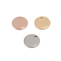 304 Gold Coin disque Rose en acier inoxydable Charm ronde Emboutissage Blank tags Bijoux en métal Faire alimentation 8 mm / 10 mm