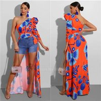 Summer 2020 News African Ladies Clothes One Shoulder Sleeve ...
