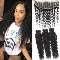 9A Water Wave Brazilian Hair 3 Bundles With 13x4 Ear To Ear ...