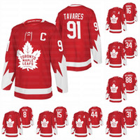 Der Frauen 34 Auston Matthews Toronto Maple Leafs 2020 Alternate Red John Tavares Mitch Marner William Nylander Frederik Andersen Morgan Rielly