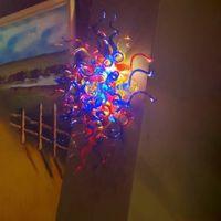 Внутренние цвета вручите вручную стеклянную лампу Итальянского стиля Sconce Murano рта дует искусство украшения стены огни