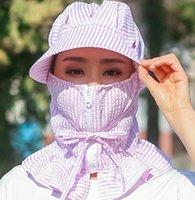 Balıkçılık Cap Spor Yürüyüş Kamp Siperlik Şapka UV Koruma Yüz Boyun Kapak Yaz Açık Balıkçılık Güneş Koruyucu Maske Caps Şapka GGA3342-1