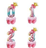 32 인치 생일 번호 풍선 아이 아이 장난감 공기 발롱 새로운 사진 장식 최고 품질 풍선 공기 공 새로운 도착