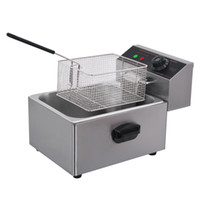 Commercial single tank 6L Chicken Chip Fryer Electric Fryer ...