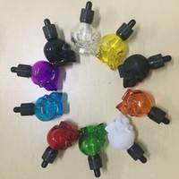 30ml Bunte Schädelglas Flasche Gläser Eye Dropper Essential Öl Glasflasche mit kindersicherer Tamper Evident Cap für Ejuice Vape Flasche DHL