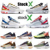 2020 Wholesale preiswerte React 55 Element 87 UNDERCOVER Herren Lauf Chaussures Tour-Gelb Metalic Gold-Frauen-Trainer Sport Sneaekrs Auf X