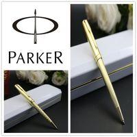 Kostenloser Versand Stationery Office Supplies Material escolar Ballpointfederschule- Parker Sonnet Kugelschreiber Silber Farbe Gold Clip pens12