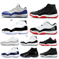 Nike Air Jordan Retro 11  Prom Night Gym Rosso Chicago navy a mezzanotte Space Jam uomo donna concord Basket Shoes 11s sport Sneakers