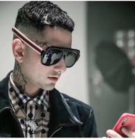 2019 Yeni Moda Lüks erkekler ve kadın Marka Tasarımcısı Güneş Boy Kare Lüks Güneş Gözlüğü Degrade Lens ile Vintage 100% UV kutusu