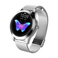 Android IOS için KW10 Kadınlar Akıllı İzle IP68 Nabız İleti Çağrı Hatırlatma Adımsayar Kalori Smartwatch Kadınlar izle
