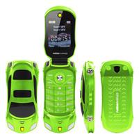 Original F15 entriegelte Flip Phone Dual Sim Mini-Sport-MP3-Auto-Modell Blaue Laterne Bluetooth-Mobile-Handy 2sim Celular für Kind Studenten