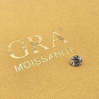 Свободные моисанит 1.0CT Carat 6,5 мм IJ Color Round Brilliant отличный вырезанный браслет ювелирных изделий алмазные кольцевые материалы