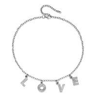 Письмо Crystal Angel Ожерелье Женщины Мужчины Ювелирные Изделия Пара Подарочное Ожерелье Детские Мед Choker Femme Панк Дизайнер Ожерелье Падение Корабль