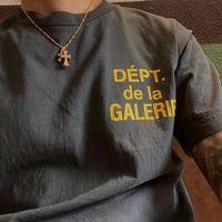 Galerieabteilung Vintage T-Shirt Französisch Logo T-Shirt Herren Casual Cotton T-shirts Sommerhemd Männer Frauen Hip Hop Streetwear MG210016