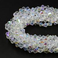 perline sparse sfaccettato la collana che rende i colori braccialetto gioielli in cristallo AB BIANCO AB