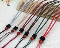 Handgewebte Wachs Halskette, Leder Seil, alle Arten von Jadeit Anhänger Seil Großhandel