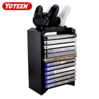 Yoteen для PS4 Стойка для хранения игр Стойка с двумя зарядными устройствами для Dualshock 4 Контроллер Консоль Стенд Магазины 12 игр