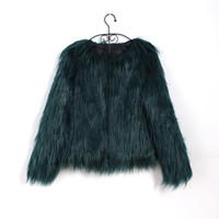 Bigsweety Floating Hair Jacket Cappotto di pelliccia Donne Cappotto di pelliccia Imitazione Faux Fox Giacche Hairy Party Warm Coat Plus Size