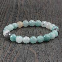 Meditação Reiki naturais gema pedra bracelete frisado Chakra cura Pulseiras Bangles por Mulheres Homens Charme Amizade Jóias Presentes