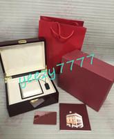 Mens de luxo relógios caixas para Royal Oak 15400 15500 15407 15202 15400st 15400OR 15710 15710 15710 15202 Vermelho caixa original bolsa de bolsa de papel