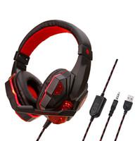Soyto SY830MV Comprimento Ajustável 3.5mm USB Surround Stereo PARA PS4 XBOX ONE Gaming Headset Headband Fone De Ouvido levou 24 PÇS / LOTE