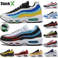 2020 New Stock X University Gold 95 Undefeated Og Mens Running Shoes Designer Clássico 95s Triple White Black Sports Trainers Women Sneakers