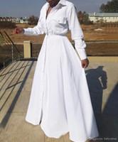 2020 جديد بالاضافة الى حجم الأزياء كم طويل ماكسي فساتين الخريف المرأة ماكسي القطن طويل اللباس الكبير كبير الحجم المرأة Vestidos السيدات اللباس FS5107