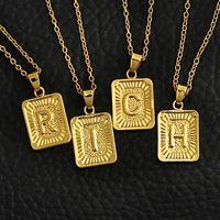الذهب علامة قلادة قلادة 26 english الحروف الهجائية القلائد a-z الحروف الأولية المختنق قلادة الرجال الأزياء الهيب هوب الهدايا مجوهرات للنساء