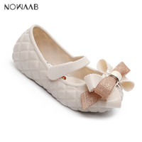 Mini Melissa Big Bow 2019 Nouveau originale fille Jelly Sandales Bow Enfants Sandales enfants Chaussures de plage antidérapants Melissa Chaussures enfant en bas âge Y200103