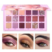 UCANBE Palette Ombre à Paupières Rose Violet Nude 18 Couleur Fard À Paupières Shimmer Mat Poudre Scintillante Paleta De Sombra Maquillage Pallete