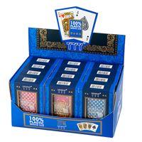 PVC Poker Kartları Su geçirmez Texas Hold'em Oynama Kartları Black Jack Plastik Oyun Kart Poker Oyunu Masa Oyunu Kart Yaratıcı Hediye