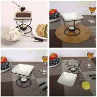 Cioccolato in ceramica di fusione forno porcellana bianca di formaggio gelato piatto caldo Set cottura DIY che fa T9I00206 strumento