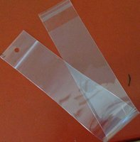 clear plastic Self adhesive hair extension bag OPP plastic h...