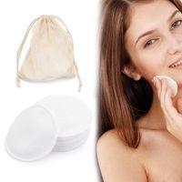 12st Bambusfaser Makeup Remover Pads Wattepads Gesichts Remover Gesichtspflege Pflege Pad Hautreinigungstücher Waschbar Wiederverwendbare