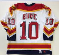 10. PAVEL BURE Florida Panthers 1999 CCM Hockey Jersey Boyut S-5XL Vintage veya özel herhangi bir ad veya numara Custom Erkekler Gençlik kadınlar